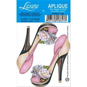 Decoupage-Aplique-em-Papel-e-MDF-Sapato-APM4-128---Litoarte
