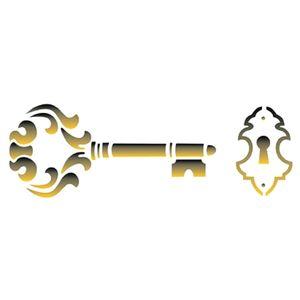 Estencil-para-Pintura-Simples-10x30-Chave-Grande-OPA1464---Opa