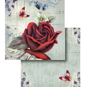 Papel-Scrapbook-Duplo-Flores-Borboleta-LSCD-293---Litocart