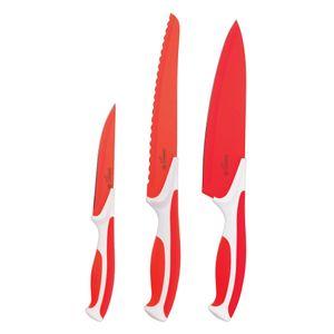 Conjunto-de-Facas-Antiaderentes-3-pecas-Aco-Inox-Vermelha-7700-3P---Mundial