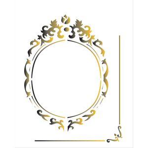 Estencil-para-Pintura-Simples-20X25-Moldura-Oval---OPA1783---Opa