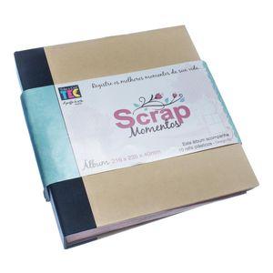 Album-pScrapbook-Momentos-22x24cm-Preto-e-Kraft-ASM002---Toke-e-Crie