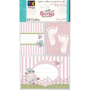 Kit-Cartoes-para-Scrap-Momentos-Bebe-Menina-KCSM002---Toke-e-Crie-By-Ivana-Madi