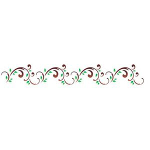 Estencil-para-Pintura-Simples-6x30-Arabesco-Folhas---OPA1124---Opa