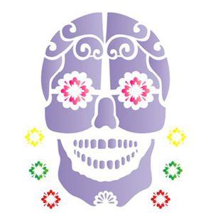 Estencil-para-Pintura-Simples-20x25-Caveira-Mexicana---OPA1180---Opa