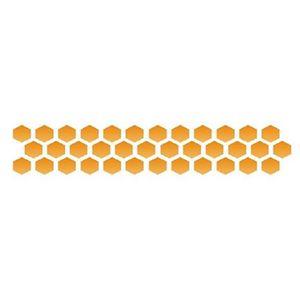 Estencil-para-Pintura-Simples-4x30-Favos-de-Mel-OPA130---Opa