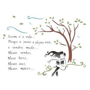 Estencil-para-Pintura-Simples-20x25-Poema-Vida-OPA1336---Opa