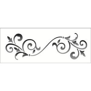 Estencil-Wall-para-Pintura-Simples-17x42-Arabesco-Ponta-Lanca-OPA1222---Opa