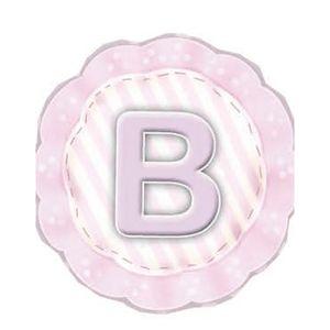Aplique-Madeira-e-Papel-Placa-Letra--B--Menina-LMAPC-293---Litocart