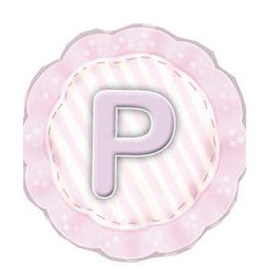 Aplique-Madeira-e-Papel-Placa-Letra--P--Menina-LMAPC-307---Litocart