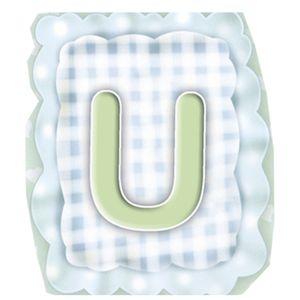 Aplique-Madeira-e-Papel-Placa-Letra--U--Menino-LMAPC-286---Litocart