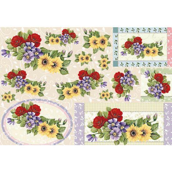 Papel decoupage flores i ld 799 litocart palaciodaarte - Papel decoupage infantil ...