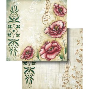 Papel-Scrapbook-Folha-Dupla-Vintage-e-Flor-LSCD-313---Litocart