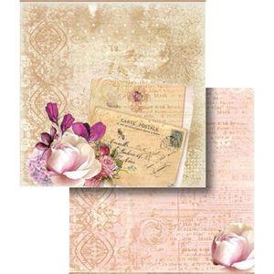 Papel-Scrapbook-Folha-Dupla-Cartao-Postal-e-Flor-LSCD-308---Litocart
