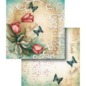 Papel-Scrapbook-Folha-Dupla-Believe-e-Flor-LSCD-314---Litocart
