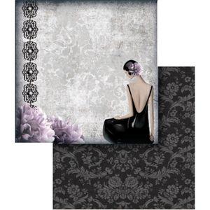 Papel-Scrapbook-Folha-Dupla-Dama-e-Flor-LSCD-303---Litocart