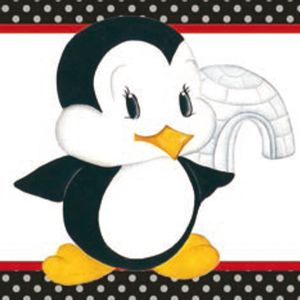 Papel-Adesivo-Decoupage-Pinguim-com-Iglu-LAX-184---Litocart