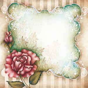 Placa-Decorativa-Madeira-Pequena-Flor-com-moldura-LPPC-11---Litocart