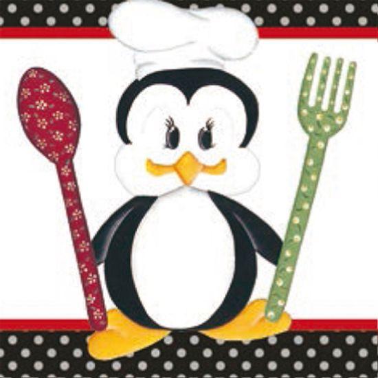 Papel-Adesivo-Decoupage-Pinguim-Cozinheiro-LAX-186---Litocart