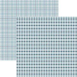 Papel-Scrapbook-Duplo-Multitons-Xadrez-Azul-KFSB369-By-Vlady