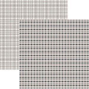 Papel-Scrapbook-Duplo-Multitons-Xadrez-Petro-e-Branco-KFSB371-By-Vlady