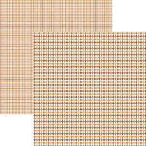 Papel-Scrapbook-Duplo-Multitons-Xadrez-Marrom-KFSB369-By-Vlady-