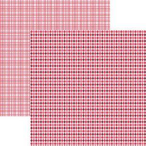 Papel-Scrapbook-Duplo-Multitons-Xadrez-Vermelho-KFSB373-By-Vlady
