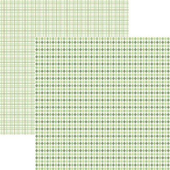 Papel-Scrapbook-Duplo-Multitons-Xadrez-Verde-KFSB374-By-Vlady