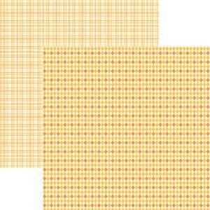 Papel-Scrapbook-Duplo-Multitons-Xadrez-Mostarda-KFSB376-By-Vlady