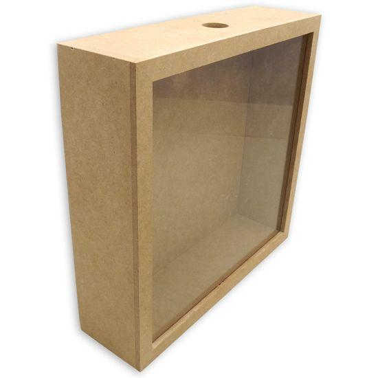 Quadro-para-Rolhas-de-Vinho-30x30x5cm-com-Vidro---MDF