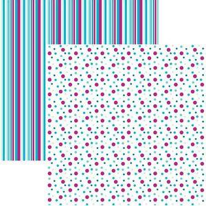 Papel-Scrapbook-Duplo-Multitons-Poa-e-Listras-Grandes-Diversao-no-Gelo-KFSB392-By-Vlady