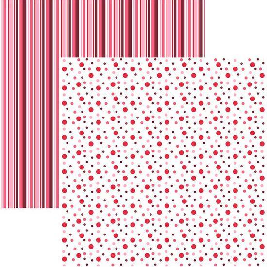 Papel-Scrapbook-Duplo-Multitons-Poa-e-Listra-Grandes-Vermelho-KFSB381-By-Vlady