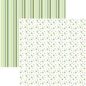 Papel-Scrapbook-Duplo-Multitons-Poa-e-Listras-Grandes-Verde-KFSB382-By-Vlady