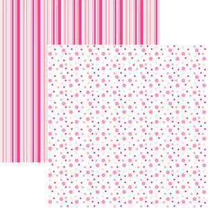 Papel-Scrapbook-Duplo-Multitons-Poa-e-Listras-Grandes-Rosa-KFSB383-By-Vlady