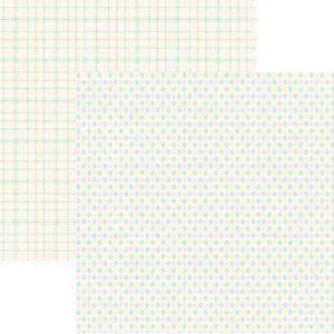 Papel-Scrapbook-Duplo-Multitons-Xadrez-Marshmallow--KFSB386-By-Vlady
