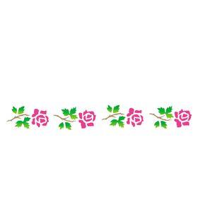 Estencil-para-Pintura-Simples-4x30-Flores-Rosas---OPA1881---Opa
