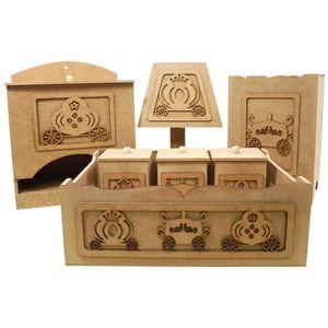 Kit-Higiene-para-Bebe-Carruagem-Princesa-7-pecas-com-Abajur---MDF-a-Laser