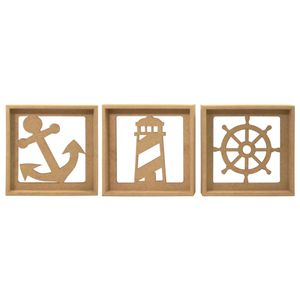 Trio-de-Quadros-Decorativo-3D-Marinheiro---MDF-a-Laser