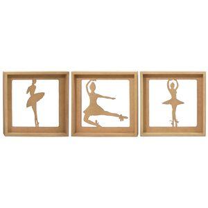 Trio-de-Quadros-Decorativo-3D-Bailarinas---MDF-a-Laser