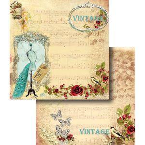 Papel-Scrapbook-Dupla-Face-Vintage-com-Manequim-LSCD-324---Litocart