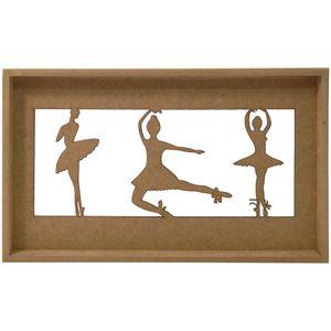 Quadro-Decorativo-3D-Bailarinas---MDF-a-Laser