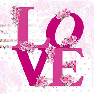 Papel-Decoupage-Adesiva-10x10cm-Love-com-Flores-DAX-074---Litoarte