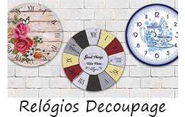 MDF Decorado - Relógios Decoupage