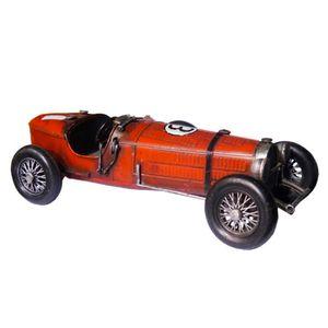 Carro-de-Corrida-Antigo-Vermelho-Retro-em-Metal-Miniatura---The-Home