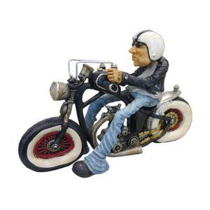 Motoqueiro-Harley-Capacete-e-Jaqueta-em-Metal-Miniatura---The-Home