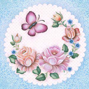 Papel-Decoupage-Adesivo-Flores-e-Borboleta-20x20cm-DA20-034---Litoarte