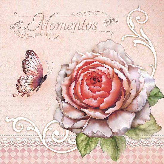 Papel-Decoupage-Adesivo-Rosas-20x20cm-DA20-031---Litoarte