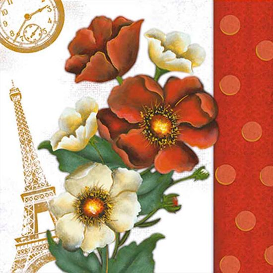 Papel-Adesivo-Decoupage-Hot-Stamping-Flores-Paris-20x20cm-DA20H-005---Litoarte