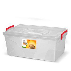 Caixa-Box-Organizadora-Mantimentos-Retangular-com-Alca-Transparente-17-Litros---Niquelart