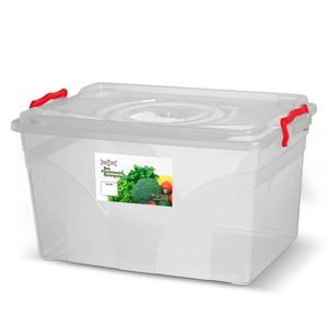Caixa-Box-Organizadora-Mantimentos-Retangular-com-Alca-Transparente-20-Litros---Niquelart